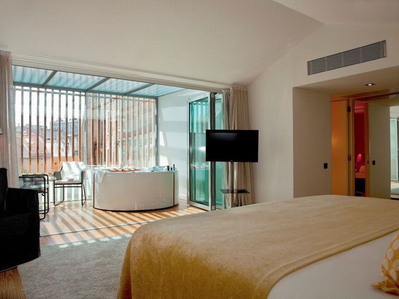 inspira hotel bedroom lisbon portugal