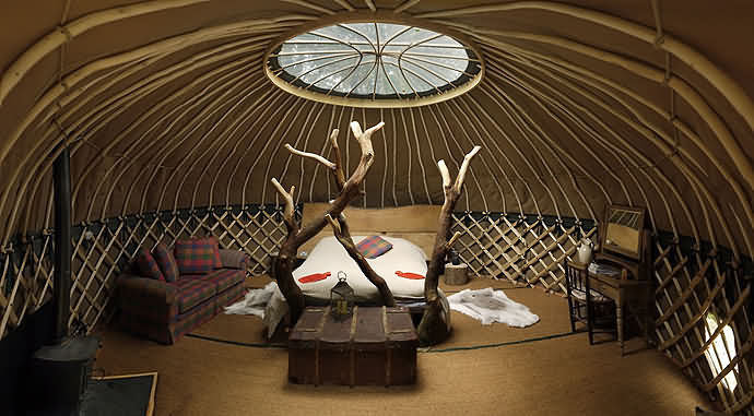 Crafty camping yurt