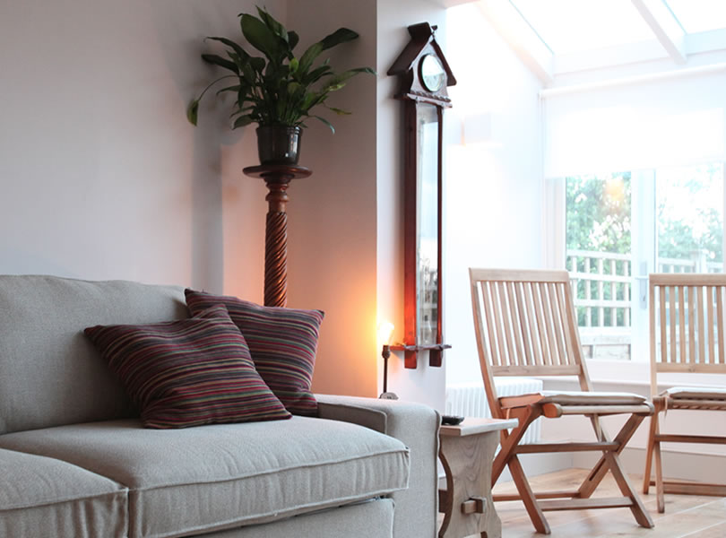 lyme cottage living area