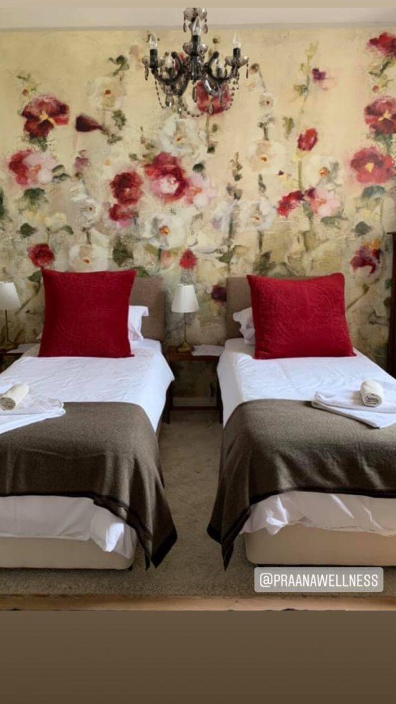 praana wellness retreat twin bedroom