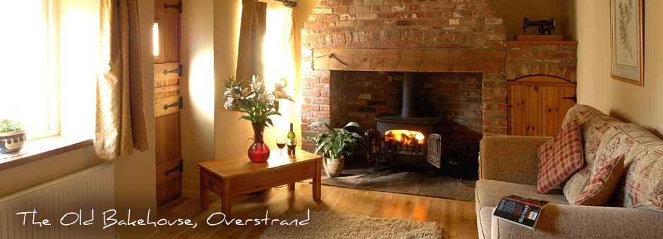 poppyland holiday cottages fireplace