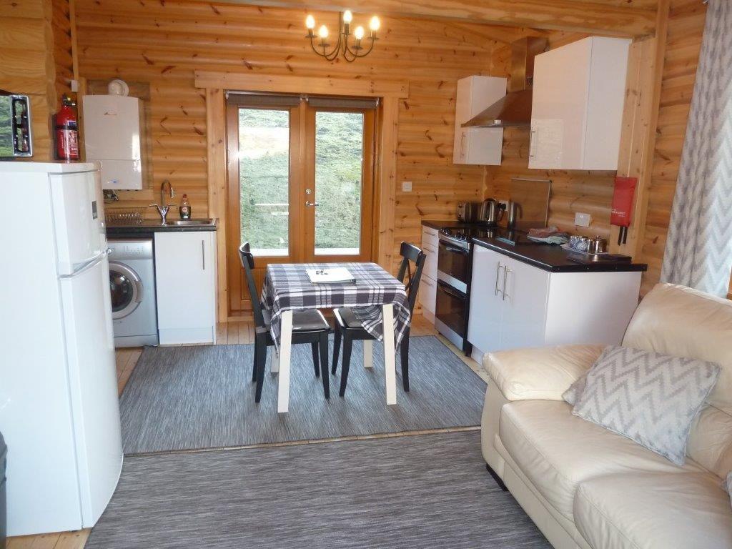 scotsview log cabin living area